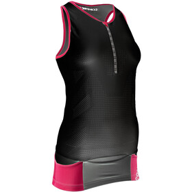 Compressport TR3 Ultra Top sin Mangas de Triatlón Mujer, black